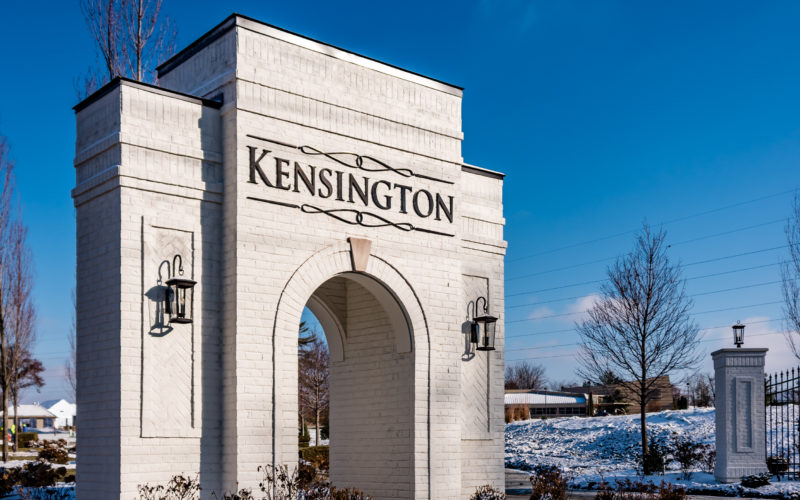 Kensington of Mason Community Entrance
